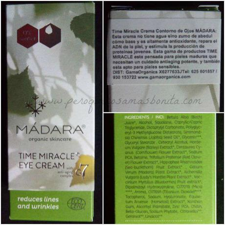 Time Miracle Eye Cream de Madara