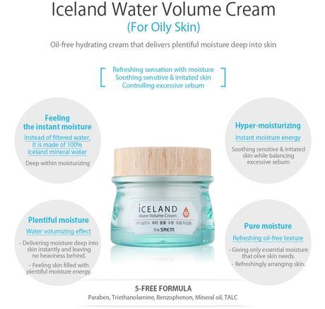 THE SAEM | ICELAND | WATER VOLUME CREAM - Piel Grasa