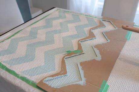 Tutorial de alfombra de Chevron