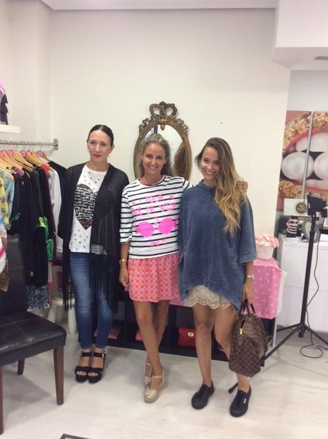 Con las diseñadoras de Anabel Lee