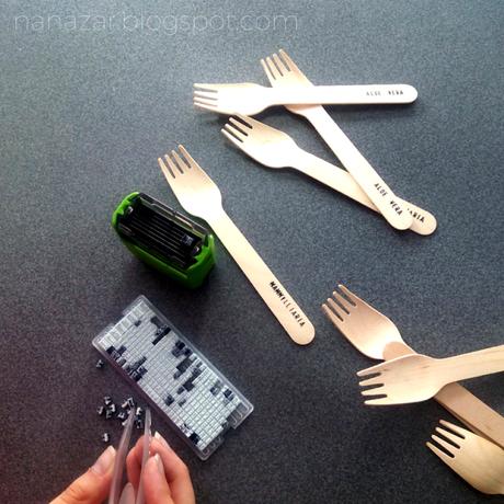 Etiquetas para plantas con tenedores de madera paperblog - Etiquetas para plantas ...