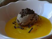 Crema mango helado chocolate