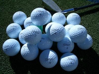 Las bolas de golf recuperadas que usan los profesionales