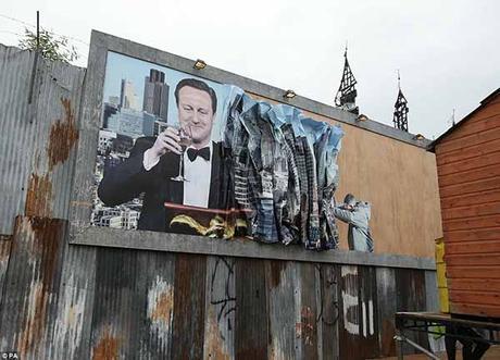 'David Cameron' Dismaland - Bemusement Park, Banksy.