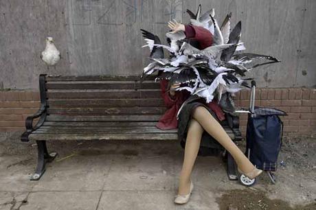 'Palomas' Dismaland - Bemusement Park, Banksy.