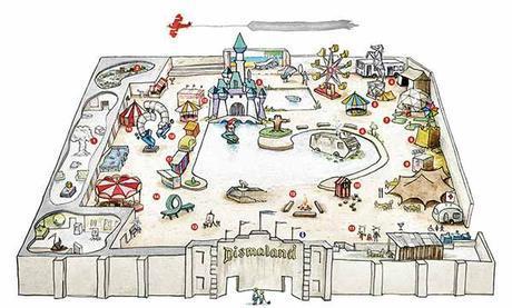 Mapa Dismaland - Bemusement Park, Banksy.