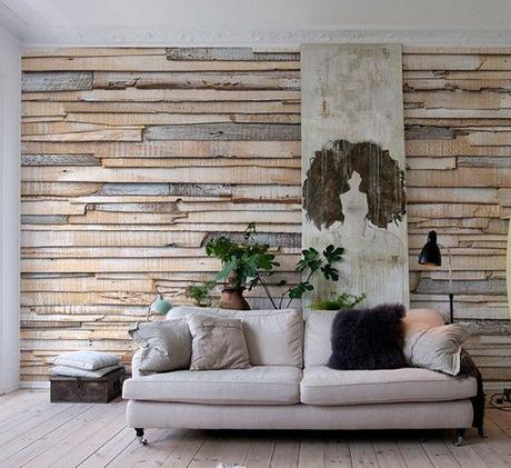 Revestir pared con madera paperblog - Forrar pared con palets ...