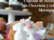 Cupcake Naranja relleno Chocolate Merengue, receta fácil deliciosa!