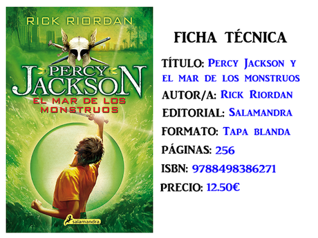Reseña: Percy Jackson y el mar de los monstruos, de Rick Riordan