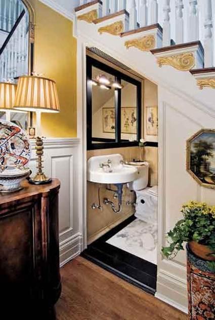 Baño Debajo De Escalera:Tamaño para un baño debajo de la escalera – Paperblog