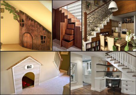 17 ideas para hacer debajo de tu escalera   paperblog