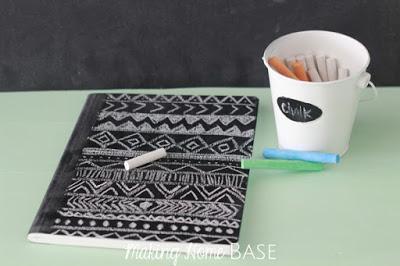 Cuaderno pizarra chalk paint