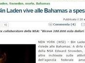 Snowden: tengo documentos Laden sigue vivo reside Bahamas