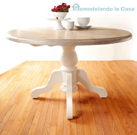 Antes y despu s c mo renovar una mesa antigua de madera - Como restaurar una mesa de madera ...