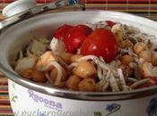Ensalada garbanzos gulas tomate cherry