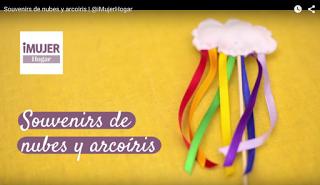 Video tutorial DIY souvenir nubes con arco iris.