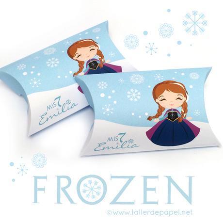 Cajitas para los dulces y para entregar a los invitados, inspiradas en Frozen. Muy lindas para entregar a los invitados al cumpleaños ;) Un diseño más para Celebrar con creatividad! por Taller de Papel.