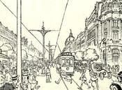 Estampas. Madrid pueblo: Mozo cuerda calle Alcalá