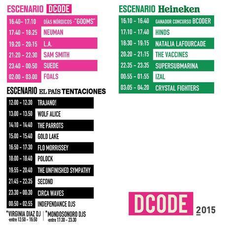 Horarios Dcode 2015 - Solo Festival