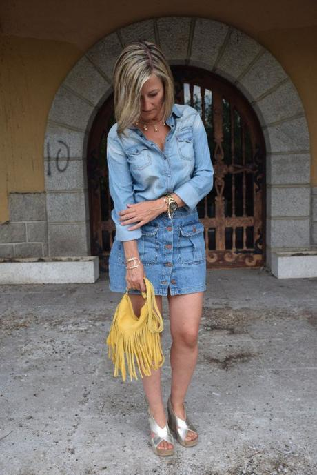 denim and gold
