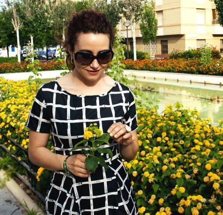 Vestido Estampado Geométrico-Geometric Print Dress