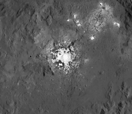 La mancha brillante de Ceres a gran resolución