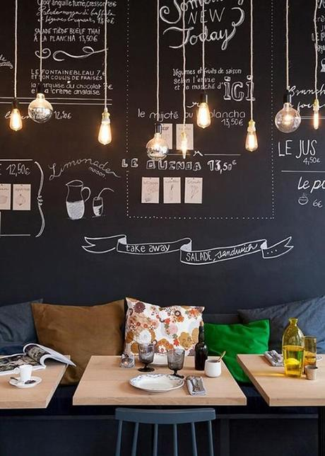 10 ideas para decorar con una pared de pizarra os animis - Pared De Pizarra
