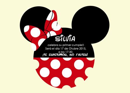 Invitaciones De Cumpleaños De Minnie De Color Rojo Paperblog