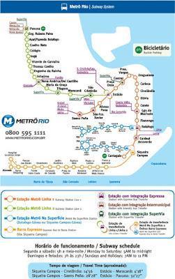 Plano Metro Río de Janeiro, Brasil, La vuelta al mundo de Asun y Ricardo, round the world, mundoporlibre.com
