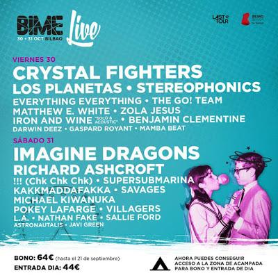 BIME Live Confirma a Richard Ashcroft, Los Planetas, Crystal Fighters, Stereophonics...