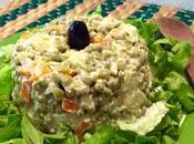 Ensalada rusa baja calorías, receta chilena