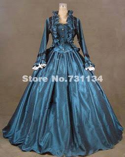 vestido de época victoriana. Tema 123 diy