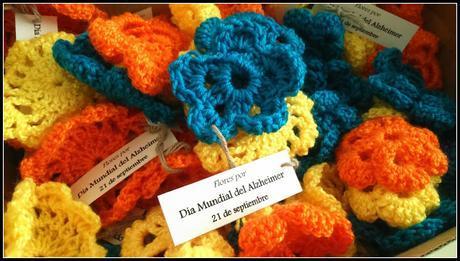 Día 20 de septiembre: reparto de flores por el Día Mundial del Alzheimer