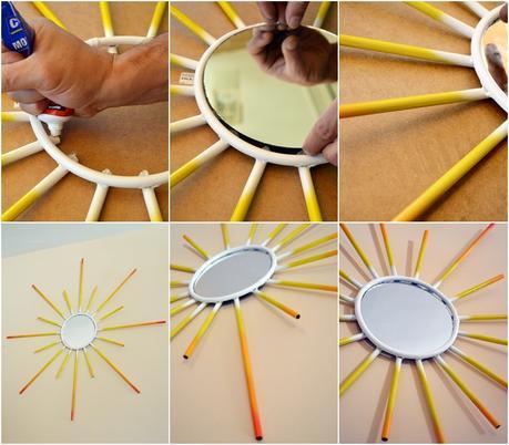 Diy espejo sol de cobre paperblog - Espejos con forma de sol ...
