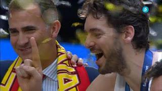 '¡Sois la leche!', dijo el rey a la selección española de Eurobasket.