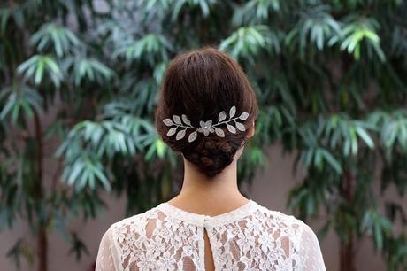 522bee972990 Tocado para novia Florencia de la nueva colección de La Cala hilos de plata