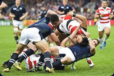 Mundial de Rugby: Escocia no dio a lugar a sorpresas venciendo 45-10 a Japón.