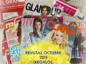 Revistas Octubre 2015 (Regalos, Suscripciones viene)