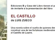 "castillo"", presentación martes septiembre Casa Libro Gran"