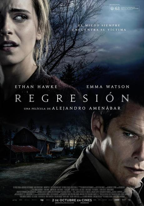 estrenos cartelera 2 de octubre de 2015 regresión