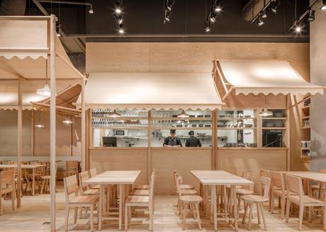 Diseño en madera, un restaurante en Bangkok