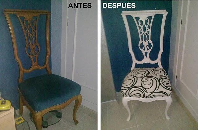 Antes y despu s de la silla de carolina paperblog - Chinchetas para tapizar ...