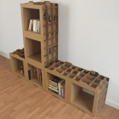 Estantes con cart n paperblog - Como hacer un armario de carton ...
