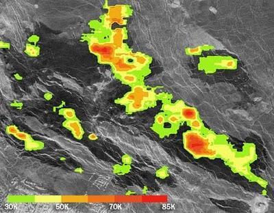 Descubren colada de lava caliente en Venus