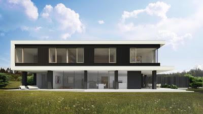 Casa moderna y minimalista en eslovenia paperblog for Casa minimalista moderna