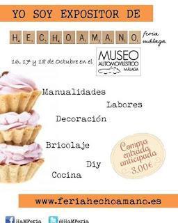 ¡Te esperamos en la Feria Hecho a Mano de Málaga!