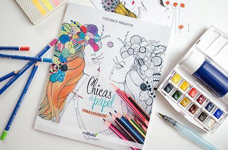 Chicas de papel para colorear de Verónica Maraver - Paperblog