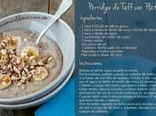 Mini Receta: Porridge Teff Plátano, gluten lactosa