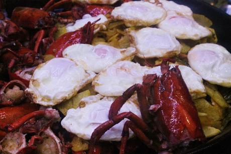Huevos fritos con bogavante y patatas paso a paso y - Como hacer pimientos verdes fritos ...