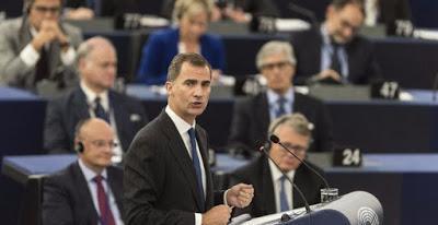 Plante al Rey de los eurodiputados españoles de izquierda Plural.